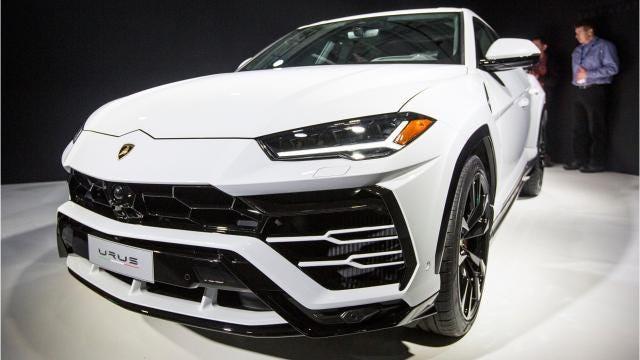 Lamborghini unveils the 2019 Lamborghini Urus SUV at the Museum of Contemporary Art Detroit in Detroit, Monday, Jan. 15, 2018.