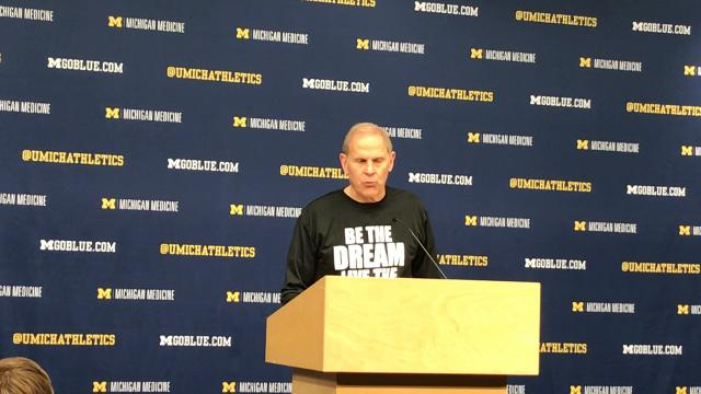 Michigan coach John Beilein addresses the media after the 68-67 win over Maryland on Monday, Jan. 15, 2018, at Crisler Center. Video by Nick Baumgardner/DFP