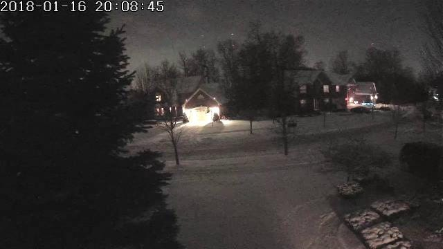 Trish Kirkman shared this video of the Michigan meteor captured by a Samsung SmartCam at her house in Novi.