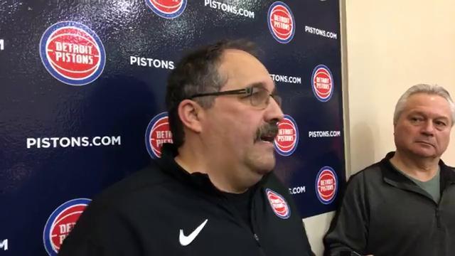 Detroit Pistons coach Stan Van Gundy updates the team's health situation.