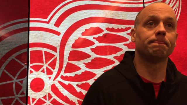 Detroit Red Wings coach Jeff Blashill answers questions Friday, Jan. 19, 2018 at Little Caesars Arena. Video by Helene St. James, DFP.