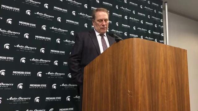 Michigan State coach Tom Izzo speaks to the media after the 85-57 win over Indiana on Friday, Jan. 19, 2018, at Breslin Center. Video by Chris Solari/DFP