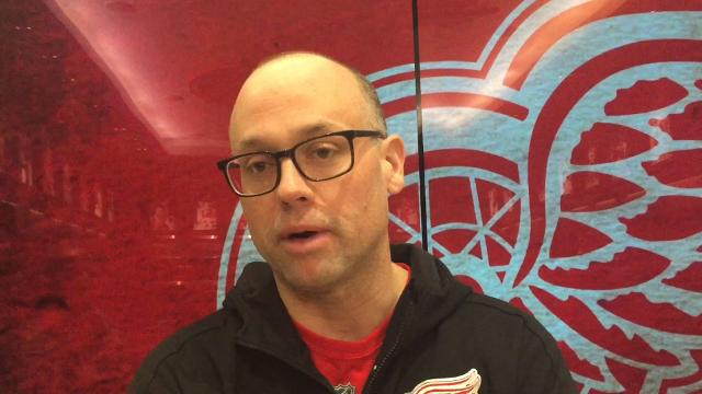 Detroit Red Wings forward Martin Frk and coach Jeff Blashill answer questions Sunday, Jan. 21, 2018 at Little Caesars Arena. Video by Helene St. James, DFP.