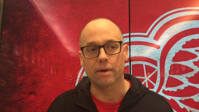 Detroit Red Wings coach Jeff Blashill talks about the death of USA Hockey's Jim Johannson on Sunday, Jan. 21, 2018 at Little Caesars Arena. Video by Helene St. James