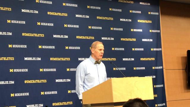 Michigan basketball coach John Beilein talks about the Wolverines 62-47 win over the Rutgers Scarlet Knights on Sunday, Jan. 21, 2018.