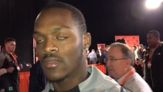 Western Michigan standout returner and cornerback Darius Phillips explains how battling Titans WR Corey Davis in practice in college benefited him. Video from the Senior Bowl in Mobile, Ala. on Tues., Jan. 23, 2018.