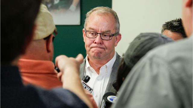 Michigan State athletic director Mark Hollis announced his retirement Friday in the wake of the Larry Nassar scandal.
