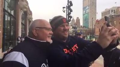 Detroit Tigers manager Ron Gardenhire meets fans outside Comerica Park on Saturday, Jan. 27, 2018. Video by George Sipple/DFP