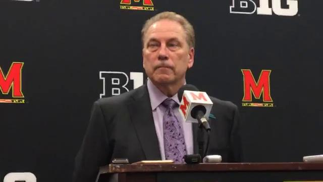 MSU coach Tom Izzo answers questions about alleged sexual assault within his program, the distractions over the past few days and his team's 74-68 win over Maryland on Sunday, Jan. 28, 2018.