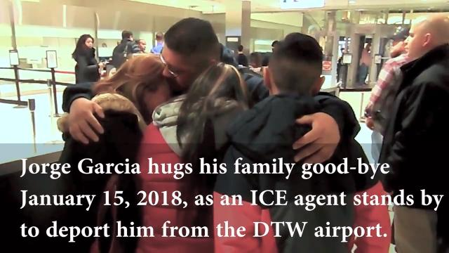Jorge Garcia was torn away from his Lincoln Park family in January. Brought to the United States at 10, Garcia was not eligible for the DACA program. He has two teenagers and a wife and is now waiting to see what his future will be.