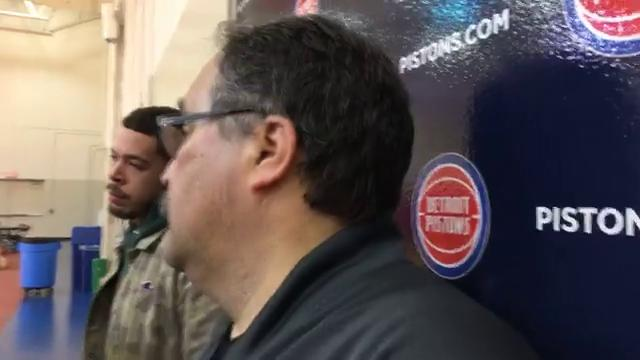 Pistons coach Stan Van Gundy speaks to the media after practice on Friday, Feb. 2, 2018, in Auburn Hills. Video by Vince Ellis/DFP