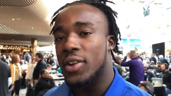 USC running back Ronald Jones talks about how he's preparing for the 2018 NFL draft. Video by Dave Birkett/DFP