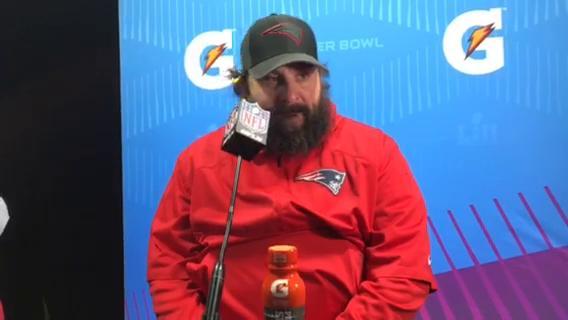 Matt Patricia reacts after Patriots lose Super Bowl