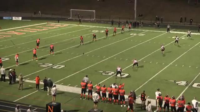 Watch University of Michigan football commit Jake Moody kick the ball into the end zone from his own 20 yard line.