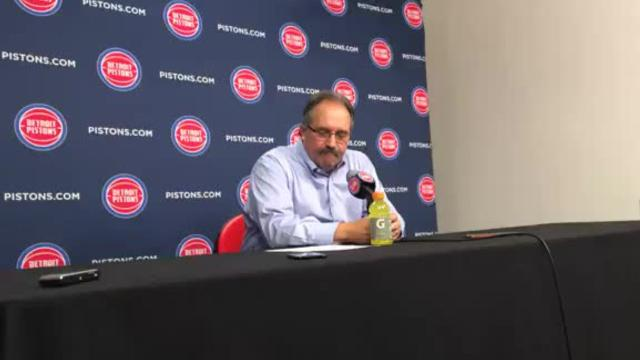 After the Detroit Pistons beat the Brooklyn Nets on Wednesday, Feb. 7, 2018 at Little Caesars Arena in Detroit, coach Stan Van Gundy talked to the media.
