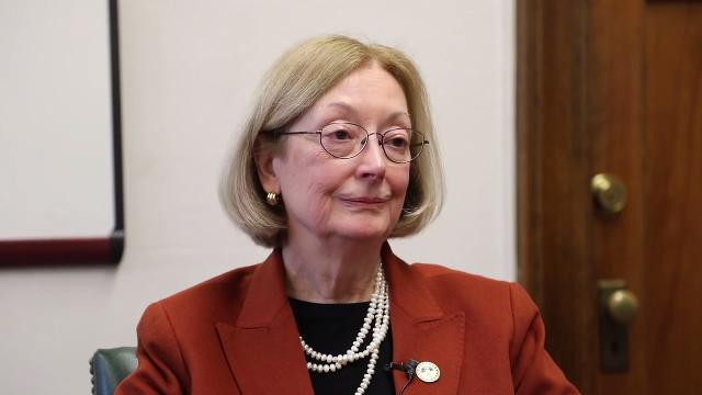 Marygrove College President Elizabeth Burns speaks to the Free Press about the state of the college after having to cut the undergrad program.