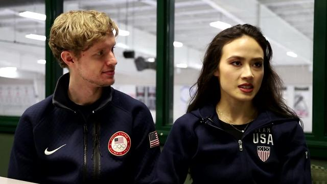 Madison Chock, Evan Bates discuss their Winter Olympics music choice