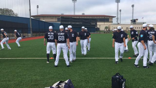 Watch Detroit Tigers workout at spring training on Wednesday, Feb. 14, 2018 in Lakeland, Fla.