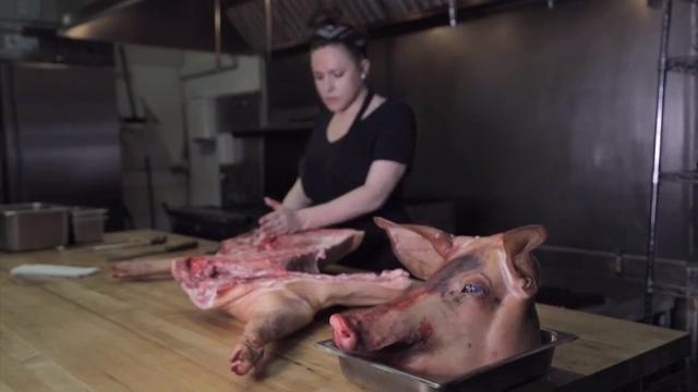 Lady of the House chef Kate Williams describes the butchery at her restaurant.