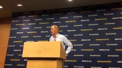 Michigan coach John Beilein discusses his team's 74-59 victory over Iowa at Crisler Center on Wednesday, Feb. 14.