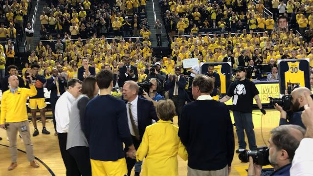 A look at the Michigan basketball Senior Day ceremony that included Austin Hatch on Sunday, Feb. 18, 2018, in Ann Arbor. Video by Nick Baumgardner/DFP
