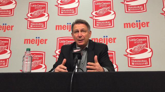Detroit Red Wings General Manager Ken Holland explains why the team traded goalie Petr Mrazek to the Philadelphia Flyers.