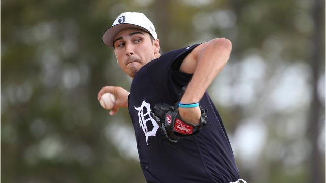The Detroit Tigers started Tuesday, Feb. 20, 2018, with individual pictures, followed by practice. First rounder pitcher Alex Faedo faced major-league hitters for the first time, too. Video by Kirthmon F. Dozier/DFP