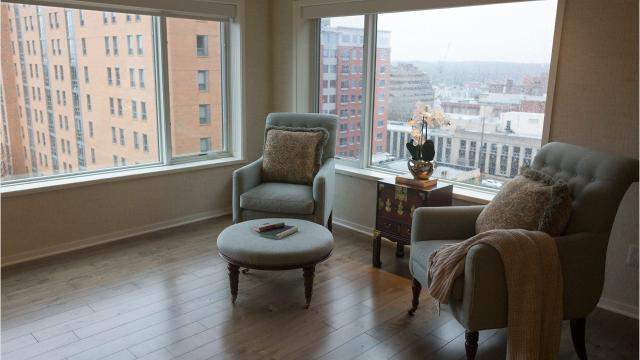 At nearly 4,000 square feet, this condo is the largest unit in its building and one of the largest high-rise condos in Ann Arbor.