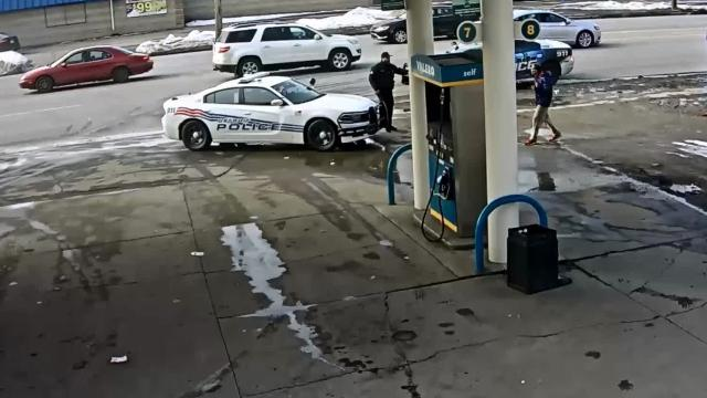 A man, now identified as 49-year-old Gerald Fuller, was taken into police custody at a Project Green Light-equipped Valero on the 15400 block of Schoolcraft.