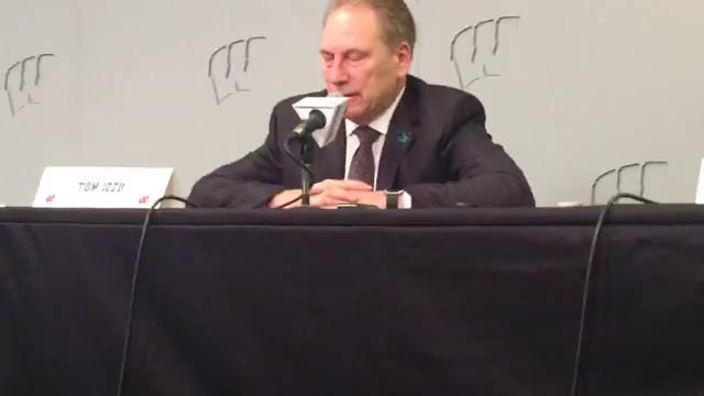 Michigan State coach Tom Izzo discusses his team's 68-63 win over Wisconsin to claim the Big Ten title outright for the first time since 2009. Izzo also comments on Miles Bridges' link to FBI investigation into NCAA. Recorded Sunday, Feb. 25.