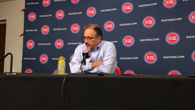 Pistons coach Stan Van Gundy pleased after his team's 110-87 domination of the Bucks at Little Caesars Arena on Wednesday, Feb. 28.