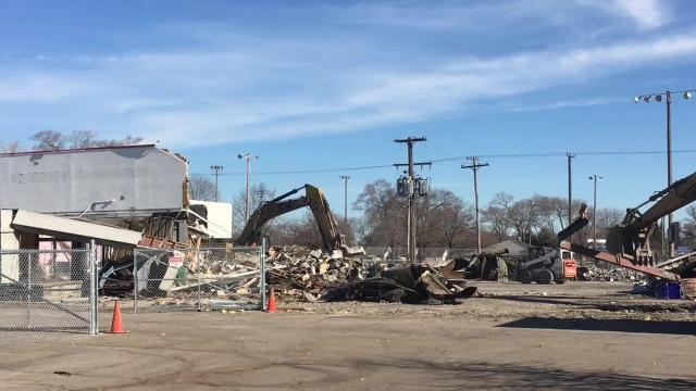 Demolition is underway at this old downriver shopping center