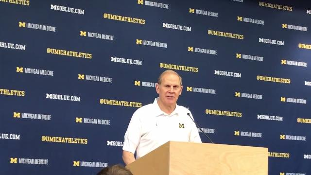 Michigan basketball coach John Beilein meets with the media on March 9, 2018.