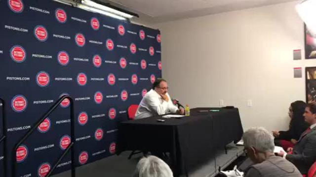 Detroit Pistons coach Stan Van Gundy says he has the utmost respect for owner Tom Gores and understands he has to do what's best for the franchise. The Pistons are 30-36 after Friday night's victory over the Chicago Bulls, a full five games behind a playoff spot.