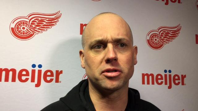 Detroit Red Wings forward Tyler Bertuzzi and coach Jeff Blashill answer questions Monday, March 12, 2018, at SAP Center. Video by Helene St. James/DFP