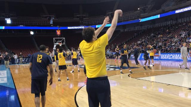 Sights and sounds from the NCAA tournament open practice on Wednesday, March 14, 2018 in Wichita, Kan. as the Michigan Wolverines prepare for Thursday's game against Montana.