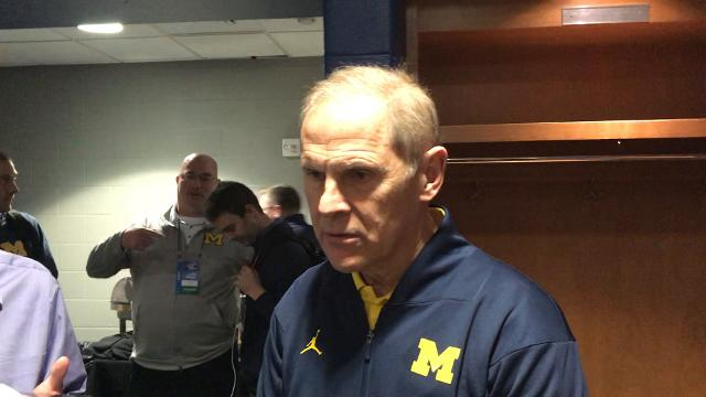 Michigan basketball coach John Beilein talks with members of the media in Wichita, Kan. on Wednesday, March 14, 2018. The Wolverines face Montana Thursday.