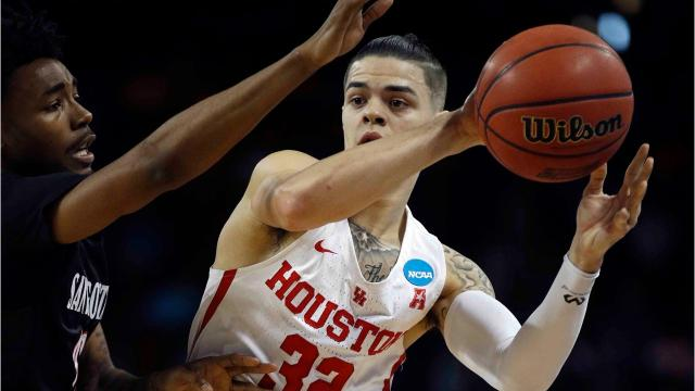 The Wolverines and Cougars play at 9:40 p.m. Saturday in the second round of the 2018 NCAA tournament. A quick look at the boys from Houston, led by senior guard Rob Gray. Video by Ryan Ford, Detroit Free Press