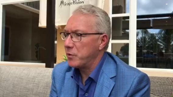 Detroit Lions president Rod Wood talked about the Final Four that Ford Field hosted in 2009 during the NFL owners meeting on Monday, March 26, 2018, in Orlando. Video by Dave Birkett/DFP