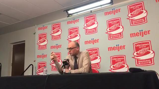 Red Wings coach Jeff Blashill discusses the rebuild process, the growth of Dylan Larkin, what the team needs to get back to contention and more. Recorded Tuesday, March 27 on Little Caesars Arena.