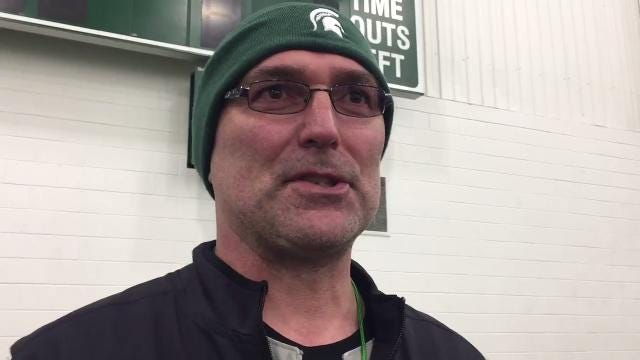 Michigan State new assistant coaches Chuck Bullough, Paul Haynes and Don Treadwell discuss their transitions back to the Spartans' staff. Recorded Tuesday, March 27.