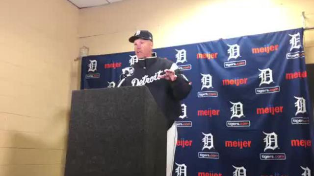 Detroit Tigers bench coach Steve Liddle talks about overturned call in the 10th inning on Opening Day against the Pittsburgh Pirates. They lost in the 13th, 13-10.