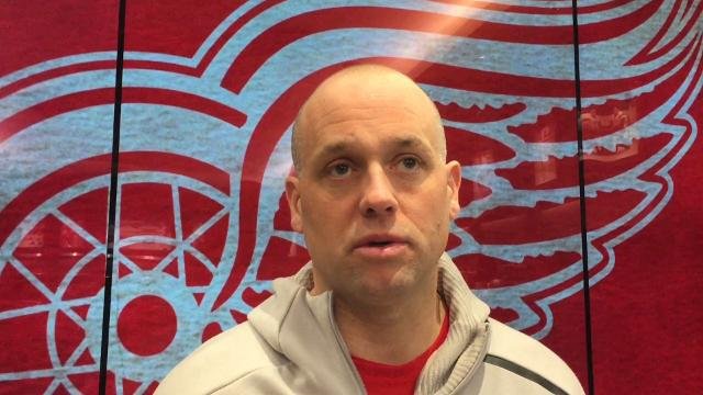 Detroit Red Wings forward Dylan Larkin and coach Jeff Blashill answer questions on Monday, April 2, 2018 at Little Caesars Arena. Video by Helene St. James/DFP