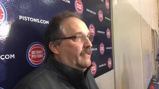 Detroit Pistons coach Stan Van Gundy says his goal is to make Milwaukee Bucks win to seal playoff spot. Any Pistons loss in the final five games gives the Bucks the final playoff spot in the Eastern Conference.