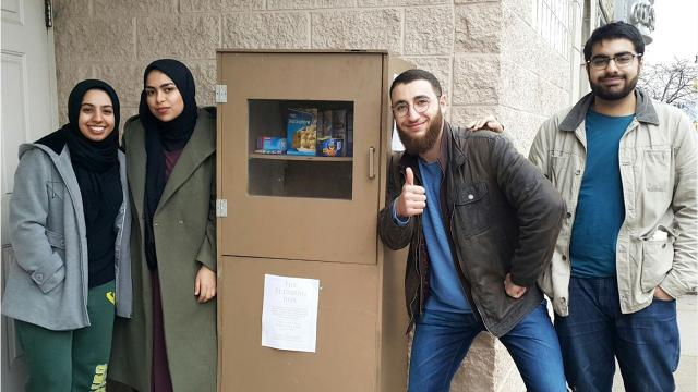 The Wayne State University Muslim Student Association has set up a blessing box outside the University Islamic Center of Detroit in Midtown. The premise? Take what you can, leave what you can.