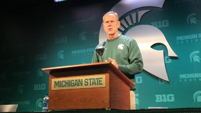 Michigan State's offense won the annual spring game, and coach Mark Dantonio tried to put the Spartans in tough situations.