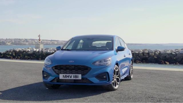 Ford Motor Co. unveiled its new Ford Focus compact car in China and Europe on Tuesday