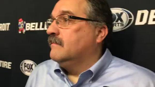Detroit Pistons coach Stan Van Gundy praises team's effort after 119-87 victory over the Chicago Bulls in the regular-season finale on Wednesday, April 11, 2018.