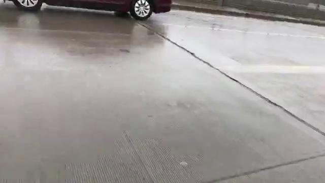 Flooding on I-75 and 7 Mile on Sunday, April 15, 2018. Mandi Wright, Detroit Free Press