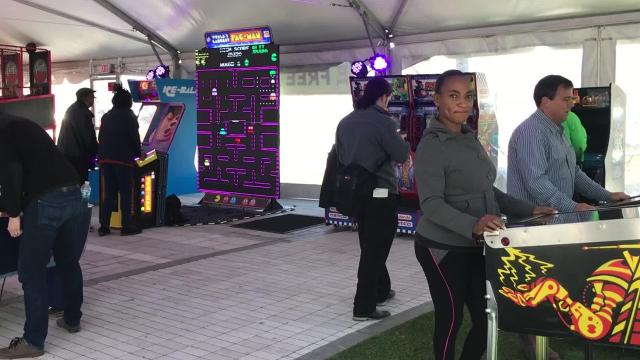 In order to preview an upcoming week-long installment of free and public STEM-themed activities at six downtown Detroit parks and public spaces, the 'Power Up' event kicked off at Beacon Park on Friday.